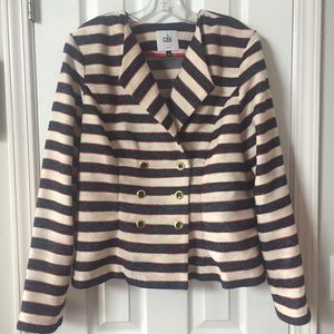 Cabi Nautical Striped Blazer Cruise Jacket 14